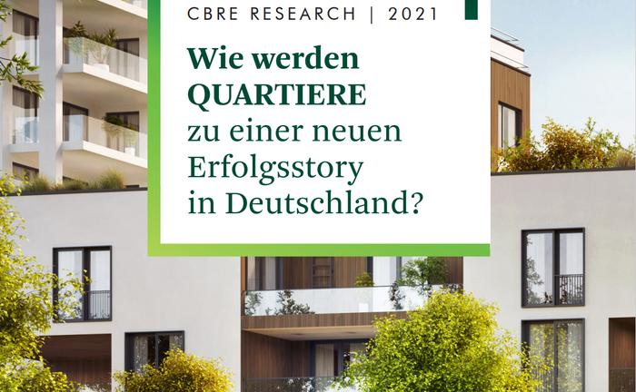 Das Deckblatt der Studie von CBRE
