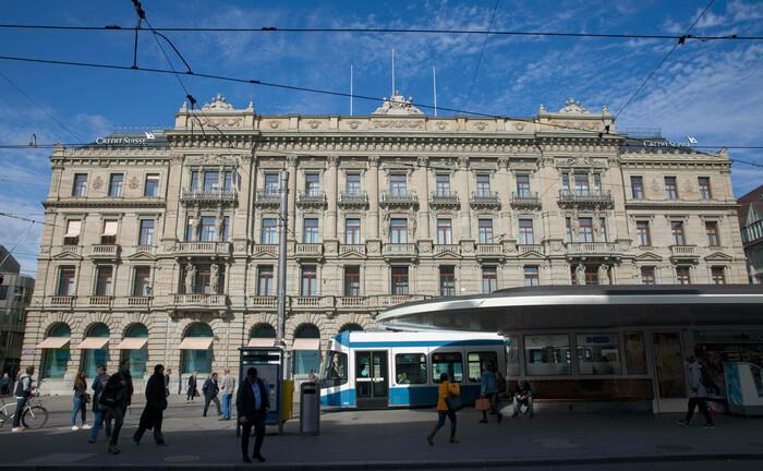 Die Zentrale der Credit Suisse am Paradeplatz in Zürich