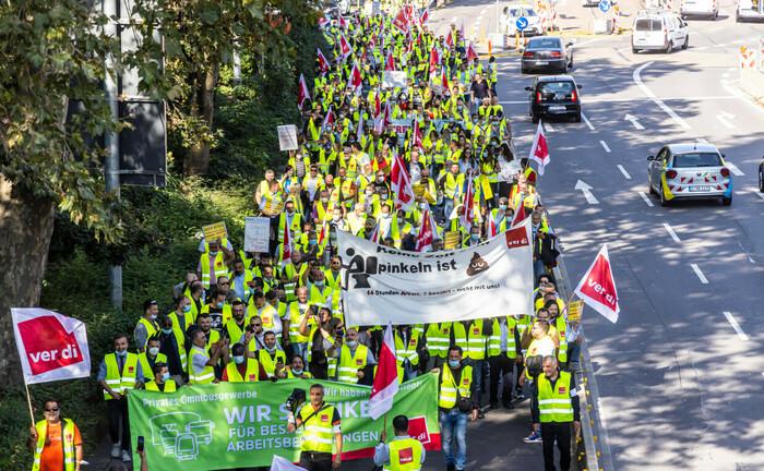 Streik bei den privaten Busfahrern in der Region Stuttgart
