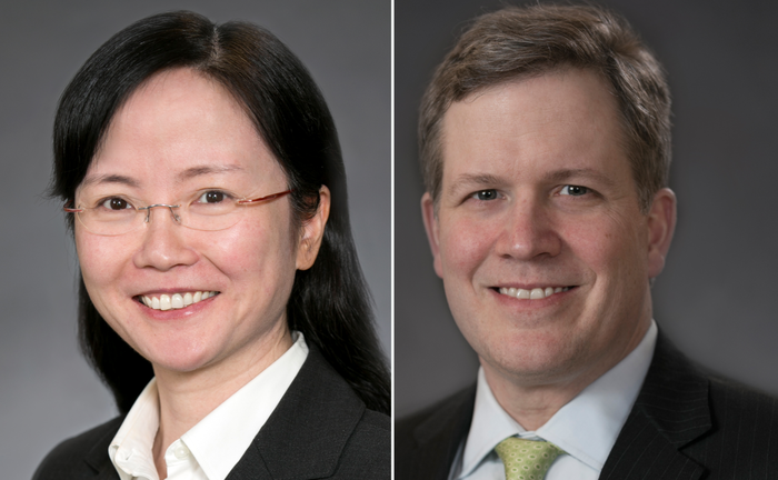 Xiaoing Zhang und Ted Harlan von American Century Investments