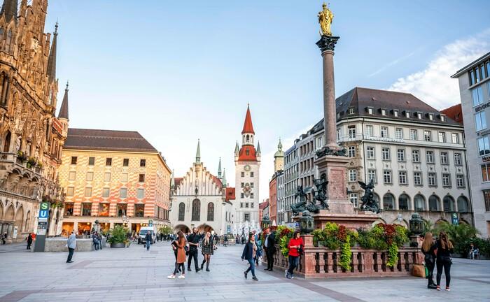 Der Marienplatz in München: Das Family Office sucht für seinen Standort in der Alpenmetropole. © Imago Images / Imagebroker