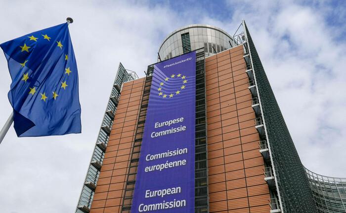 Das Gebäude der EU-Kommission im belgischen Brüssel
